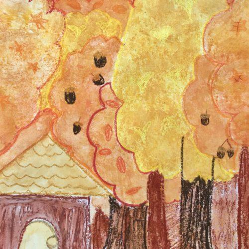 秋の森の家